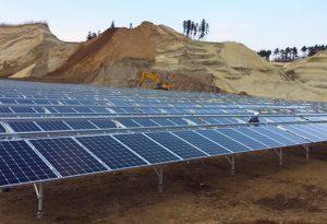 株式会社岡﨑工業の太陽光発電事業の施工
