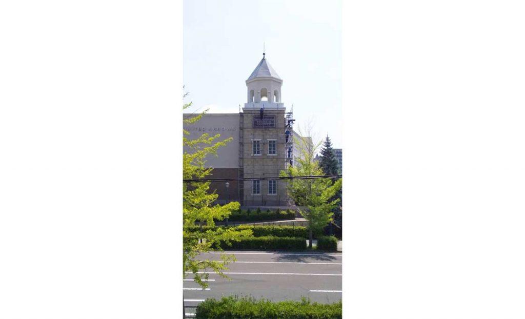 工事施工開始 仙台泉プレミアムアウトレットタワーC漏水修繕工事施工開始 001