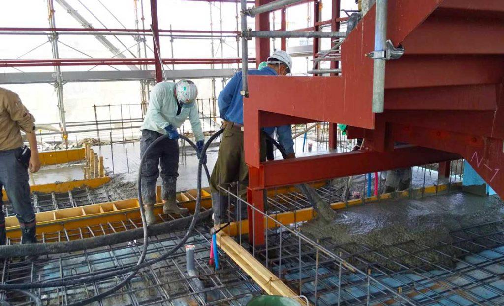 工事施工中-今野畜産店舗併用食肉加工工場新築工事--001