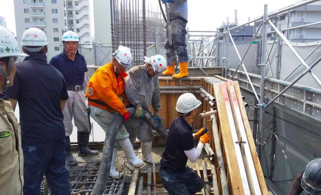工事施工中-小田原マンション新築工事--001