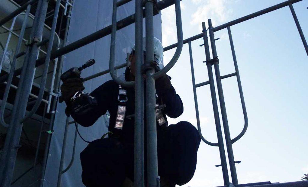 工事施工中-西多賀病院大規模修繕工事--001