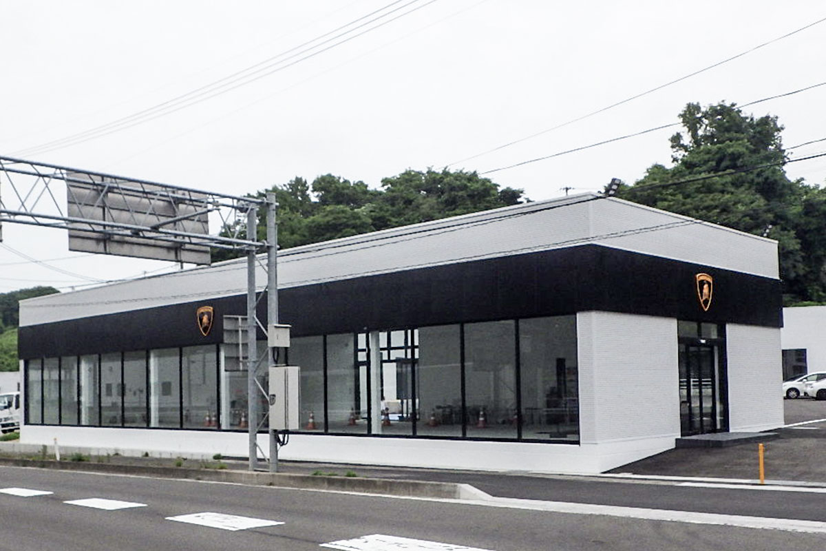 施行実績 建築 21 タジマモーター仙台ショー ルーム新築工事 001